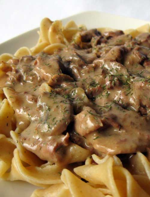 I am not a huge fan of red meat but this Slow Cooker Beef Stroganoff is to die for!  The only problem is finding porcini mushrooms.