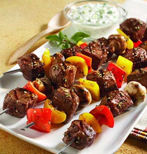 I absolutely love kabobs of all kinds, but my favorite is a classic kabob with beef and an assortment of veggies!