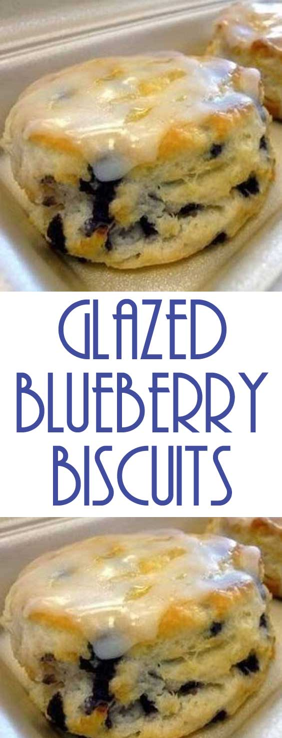 Are you tired of eating the same ole food every single day? Why don't you try your hand at making these delicious Glazed Blueberry Biscuits?