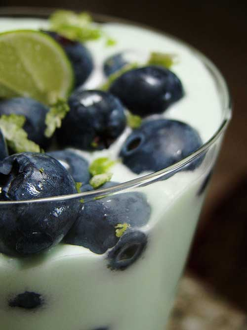 Blueberry Lime Cheesecake Parfait