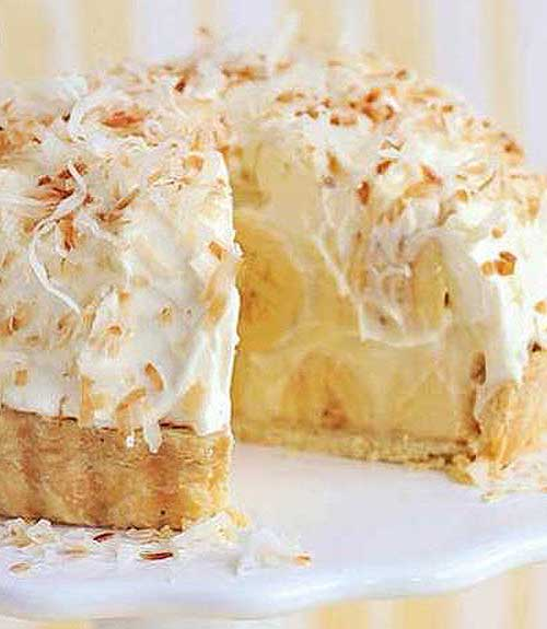 Just like Grandma's Banana Coconut Cream Pie. Take this to your next family reunion and you'll be the star!