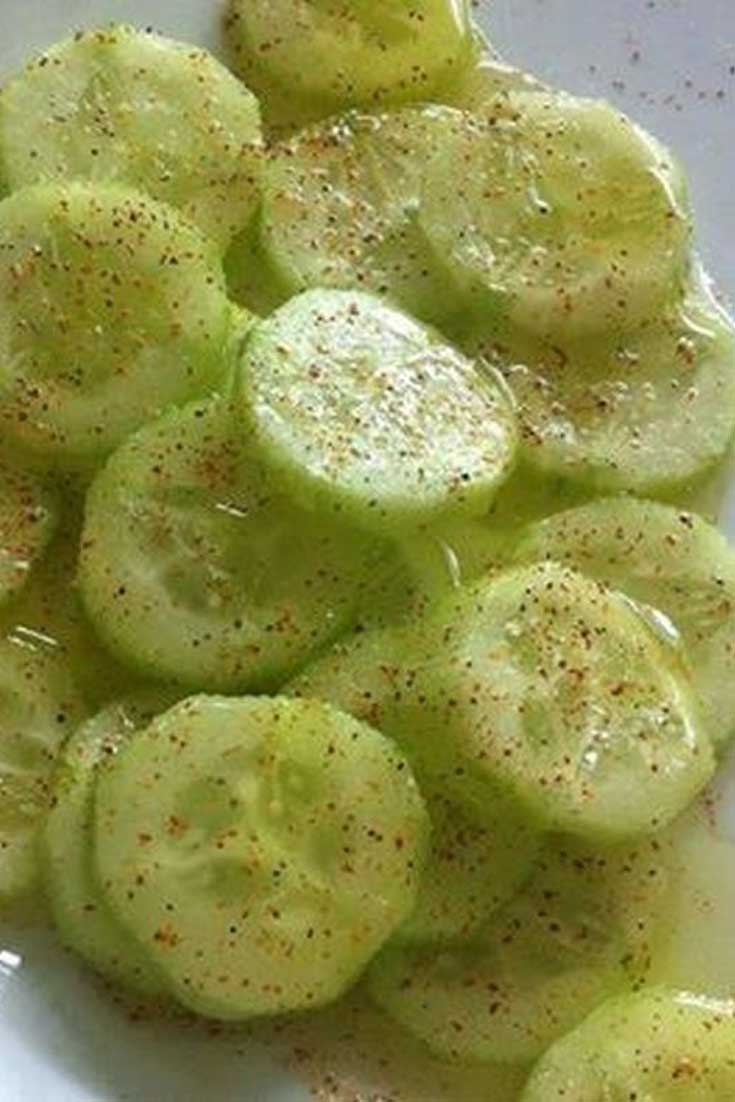 This Cucumber Delite is my new favorite, healthy afternoon snack. It is so easy to make and tastes delicious. #cucumber #salad #snack #healthy