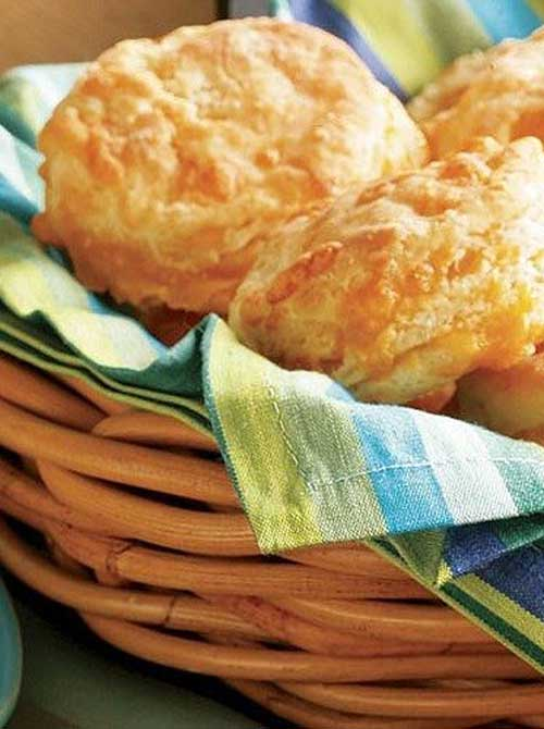 Recipe for Flaky Cheese Biscuits - Because of all the delicious cheese, these biscuits may spread a bit as they bake, but they taste so good, it really doesn't matter how they look.
