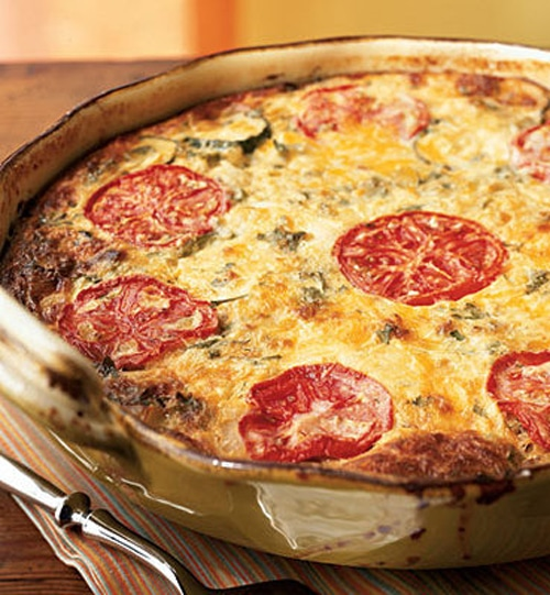 Garden Vegetable Crustless Quiche