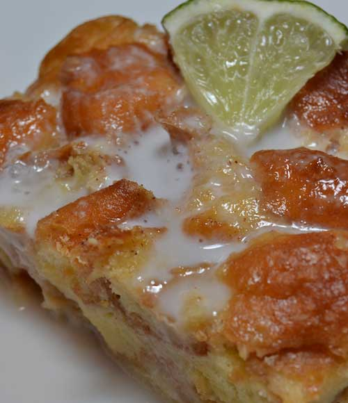 Stop eating boring bread pudding. This Key Lime Bread Pudding is a tart twist that is simple to make. And rather than French bread, I used donut holes to give it added sweetness.