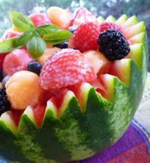 Recipe for Strawberry Melon Summer Salad - This salad is perfect for summer BBQs. The fruit makes it sooo tasty!!