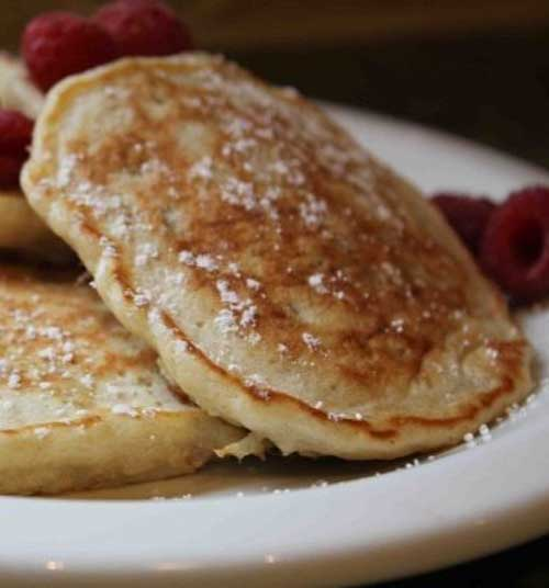 These Oatmeal Pancakes were beyond exceptional. I wasn't the only one who thought so. After helping me make them, both boys polished off 5 pancakes each!