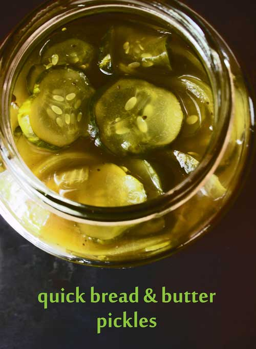 For just a couple of bucks, I knew I could make these Quick Bread and Butter Pickles just as tasty as those $10 jars of Brooklyn hipster-made ones that all the gourmet shops around here sell.