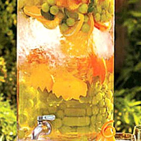 Recipe for Luxurious Spa Water - The glorious fruit and herb infused waters they always have available to you at a luxury spa. On this site you'll find 12 flavor blends.