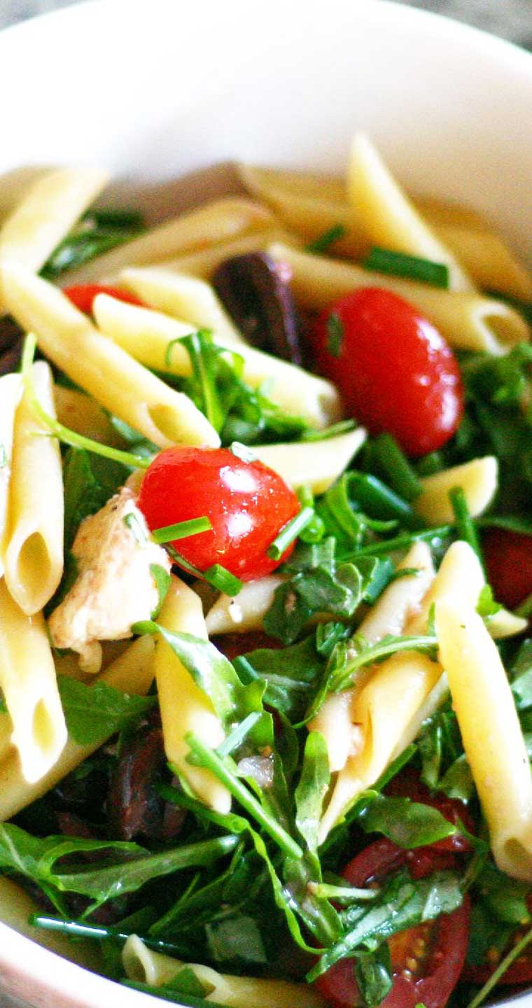 A simple, Summer Pasta Salad recipe that is perfect for all of your summer BBQ's and potlucks! It is a great recipe for using up all of the vegetables from your garden or farmers market haul. #pasta #salad #summer #sidedish