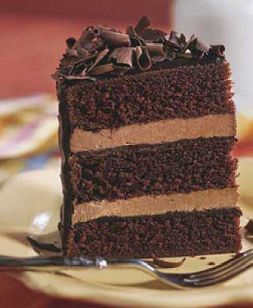 Here is a simple and easy to prepare chocolate cake recipe that uses two favorite foods: chocolate cake and chocolate whipped cream frosting.