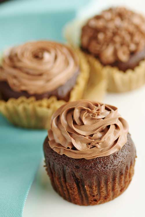 Kahlua Cupcakes with Kahlua Chocolate Mousse Frosting