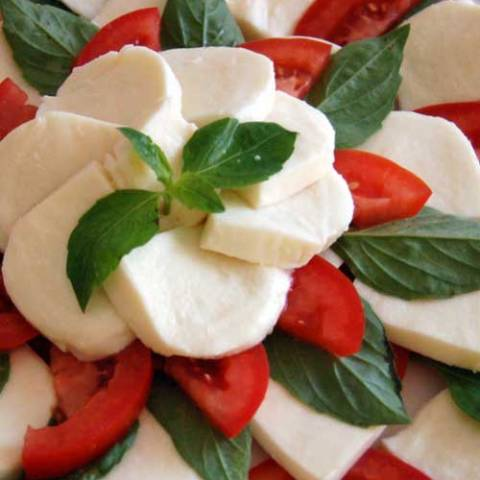 Recipe for Olive Garden Tomato and Mozzarella Caprese - I love the classic combination of tomatoes, mozzarella, and basil in this appetizer. The flavors are as bright as a summer day.