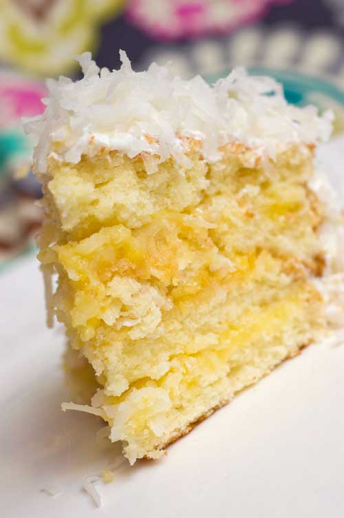 Recipe for Lemon-Coconut Cake - The citrusy note of this cake, along with it's perfect texture...I am starting to drool just thinking about it!