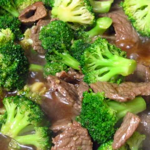 Recipe for Beef and Broccoli Stir Fry - This is an easy version of the Chinese takeout classic, delicious served alone or over any type of rice or chow mein or other long noodles.