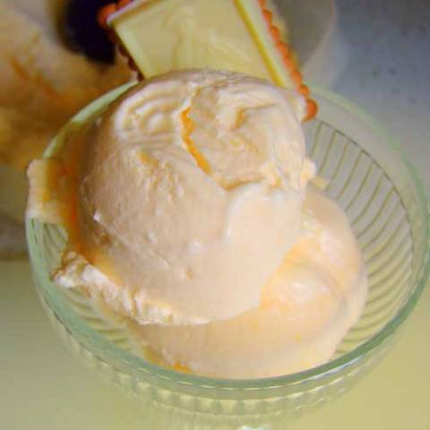 Recipe for Creamsicle Ice Cream - You remember those little cups of half vanilla, half orange sherbet, don't you? Well here is an ice cream that tastes just like those cups of yummy and it's so easy to make.