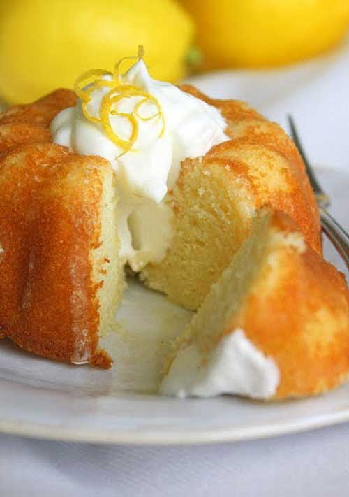 Mini Lemon Bundt Cakes with Limoncello Glaze