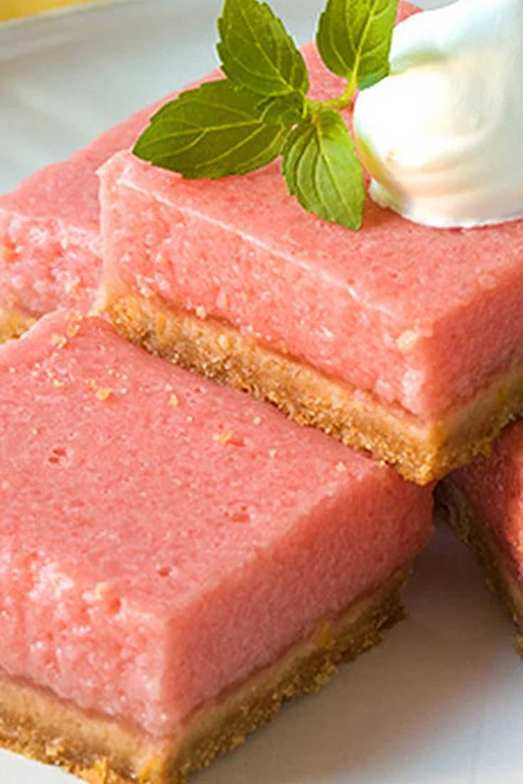Watermelon and lemon give you the perfect taste of summer in these refreshing, summery, Mouth-Watering Watermelon Bars. #watermelon #dessert #dessertbars