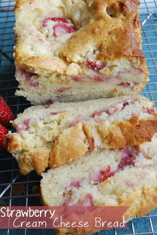 There are so many recipes on Pinterest that I can't wait to try. This Strawberry Cream Cheese Bread was one of the recipes I have been dying to make and it turned out really good. #breadrecipe #baking #strawberryrecipe