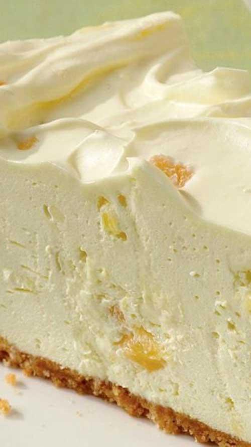 No-Bake Pineapple Cheesecake