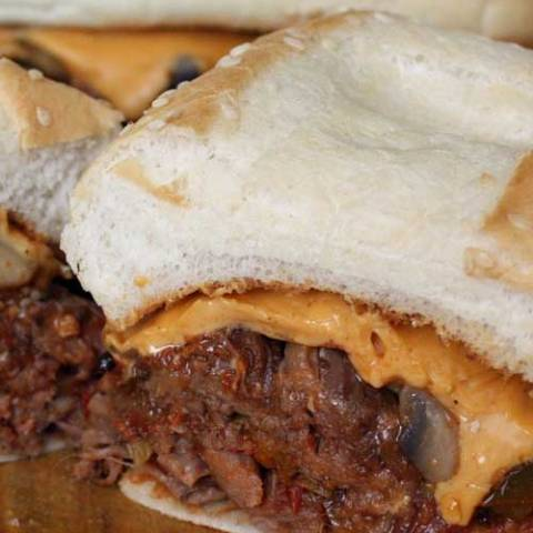 Recipe for Slow Cooker Steak Sandwiches - Give your Philly a little Mexican kick in the flavor department. You may just not be able to eat just one!