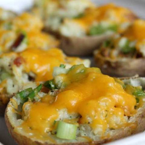 Recipe for Twice Baked Potatoes - These potatoes are one of the dishes I make most often for company and they never disappoint - and are always gone by the end of the night.
