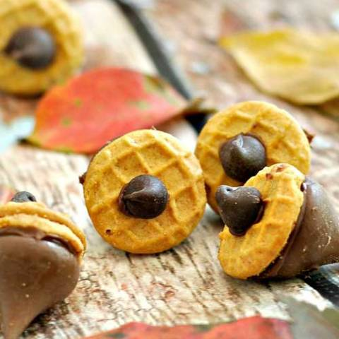 Recipe for Nutella Acorn Kisses - Here is a quick treat that you can make to celebrate the arrival of fall.