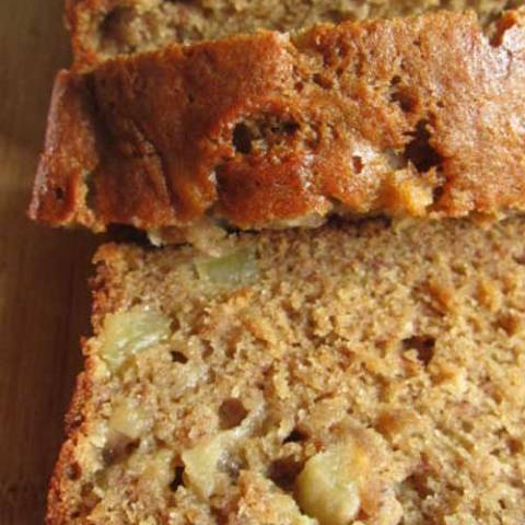 Apple Banana Bread? Yes please! Incredible and sooo yummy! The apple adds a great flavor and the house smells GREAT!!