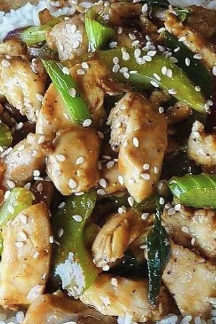 This Black Pepper-Garlic Chicken is one on my favorite Stir-fry recipes, inspired by Black Pepper Chicken served at Panda Express Restaurants.  The savory sauce took a bit of tinkering, but I think this copycat version is really close... and it's delicious, too! #chicken #asian #dinnerideas #stirfry