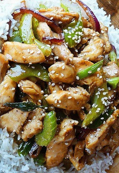 Here's one on my favorite Stir-fry recipes, inspired by Black Pepper Chicken served at Panda Express Restaurants.  The savory sauce took a bit of tinkering, but I think this copycat version is really close... and it's delicious, too!