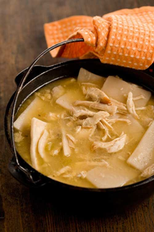 The ultimate comfort food! These chicken and dumplings are even better than what they serve at Cracker Barrel.