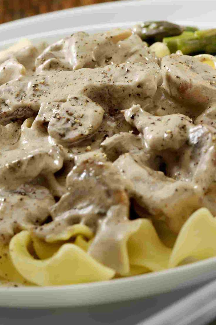 Using the magic that is a slow cooker, you can have this Slow Cooker Beef Stroganoff any night of the week! #beef #dinnerideas #slowcooker