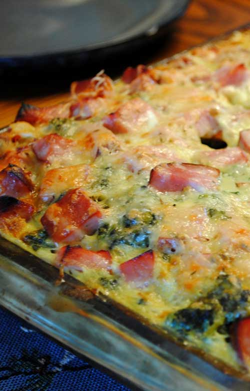 You can actually prep this Ham and Swiss Breakfast Casserole the night before, then just pop it into the oven in the morning. Perfect for any holiday or weekend morning where you don't want to spend a ton of time cooking.