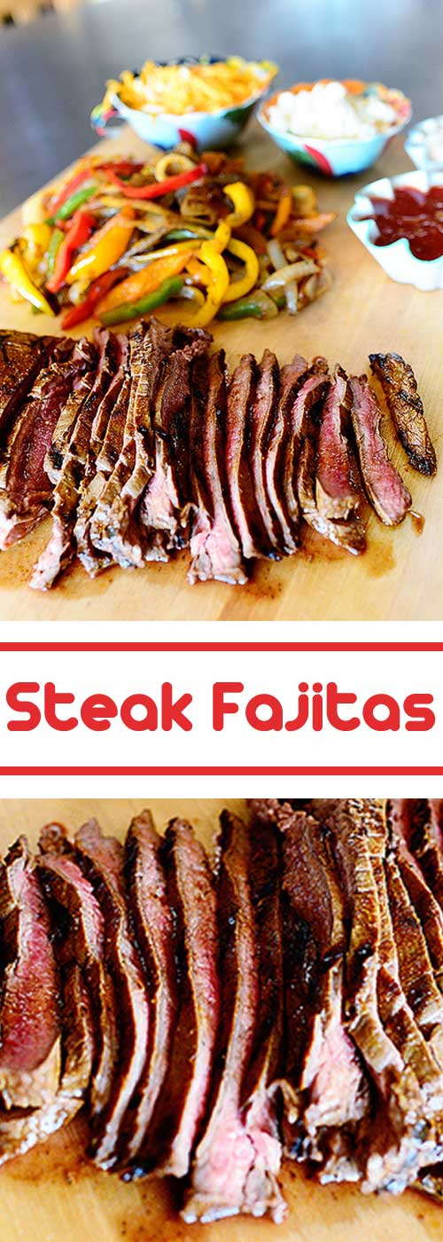 When I get a hankering for steak fajitas, I pretty much can think of nothing else until I eat them. This is my go to recipe for those times.