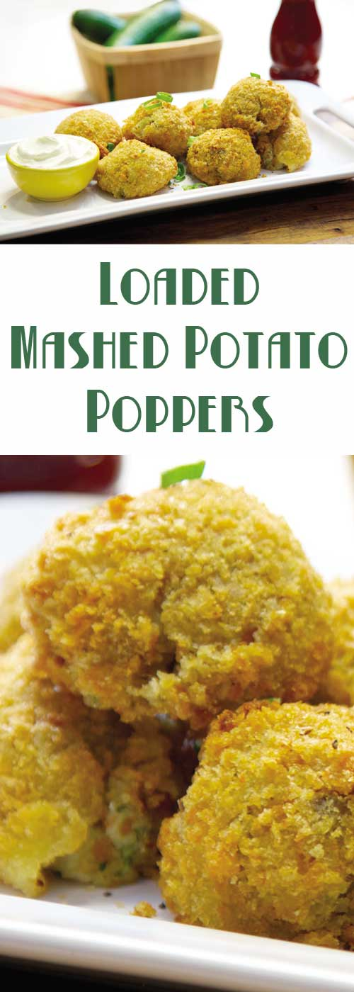 Don't let those leftover mashed potatoes go to waste. Use them to make these fabulous poppers. A spicy way to make them go