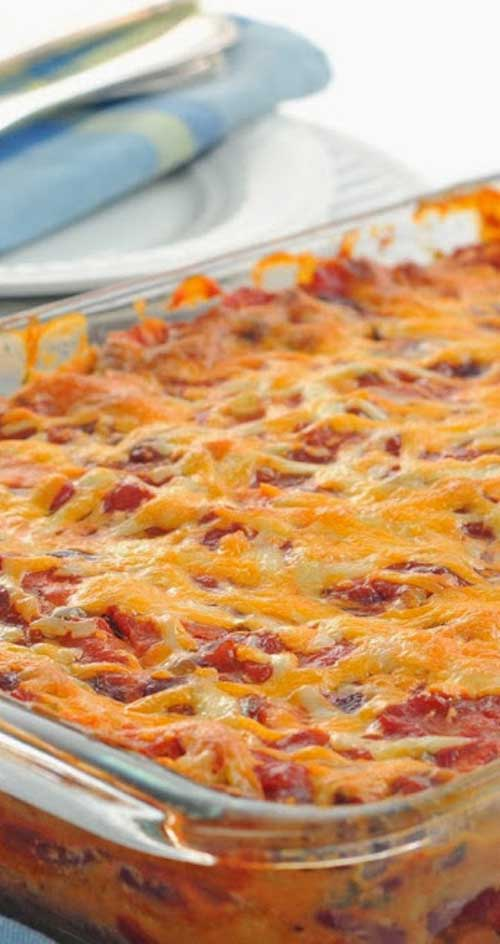 This is a delicious Mexican Casserole recipe with only 6.5 weight watcher points per LARGE serving! YUM