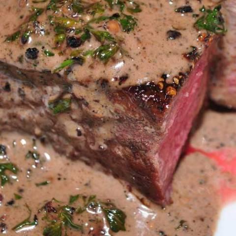 My favorite fancy steak dish is Filet Mignon au Poivre (with pepper). This is a simple version of the steak au poivre you've had in restaurants.