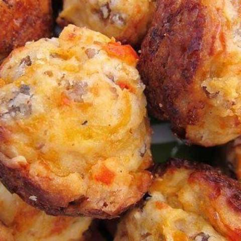 Recipe for Cream Cheese Stuffed Sausage Balls - This recipe will change the way you make sausage balls forever! Seriously THE BEST sausage balls EVER!