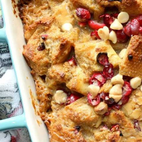 Recipe for Baked White Chocolate Eggnog French Toast - I really liked the flavors of this dish, and was very happy with how it came out. This makes a great breakfast dish, or you can have it as a late night dessert!