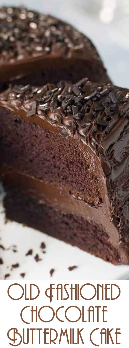 An old-fashioned chocolate cake so moist your guests will think it came from a bakery! #chocolatecake #cakerecipe #dessertrecipe