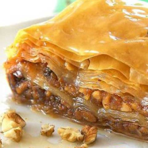 A Greek favorite that makes everyone think you are a master chef and is sooo easy to make! The phyllo dough for this Greek Baklava recipe is found in the freezer section of most grocery stores.