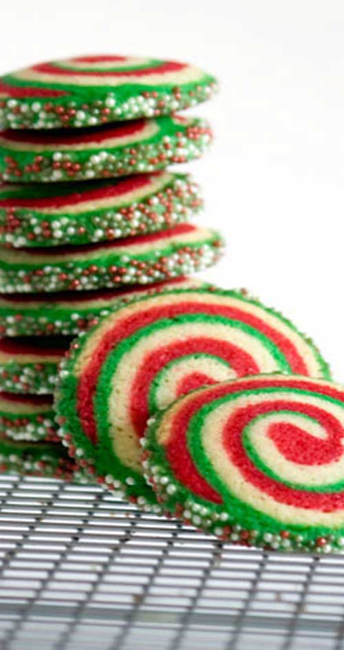 This is rather a lengthy recipe, but it's quite easy. It's just the layering of the doughs together that is time-consuming, but don't be put off; these are the most fantastic Christmas cookies.