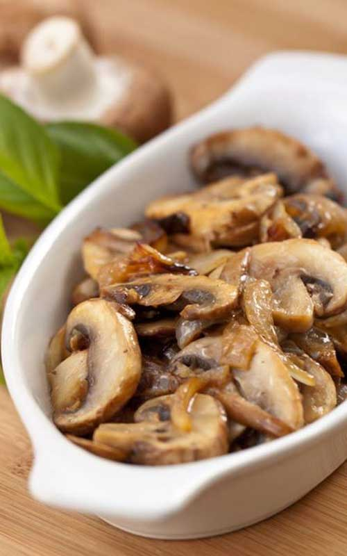 These Sauteed Mushrooms are one of the easiest and most yummy ways to enjoy your mushrooms. Delicious as a side, an appetizer, or added to  a salad.