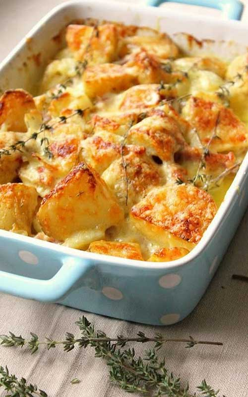 Bacon-Studded Potato Gratin
