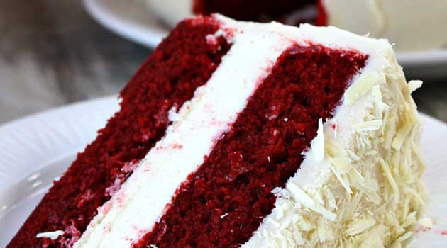 Recipe for Red Velvet Cheesecake - While this cake looks like a lot of work, it's really not. And the results are definitely impressive; heartbreakingly red, soft as satin, fine-crumbed and fluffy!