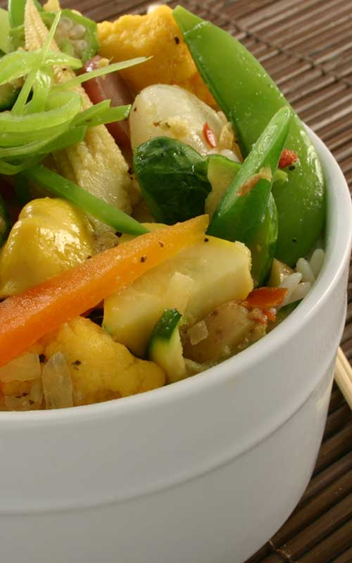Skillet Steamed Vegetables