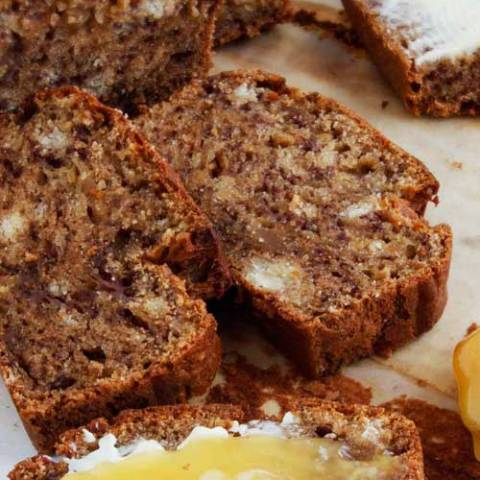 Recipe for Delicious Banana Bread - This is the best banana bread I have ever had. I buy really ripe bananas just so I can make this!
