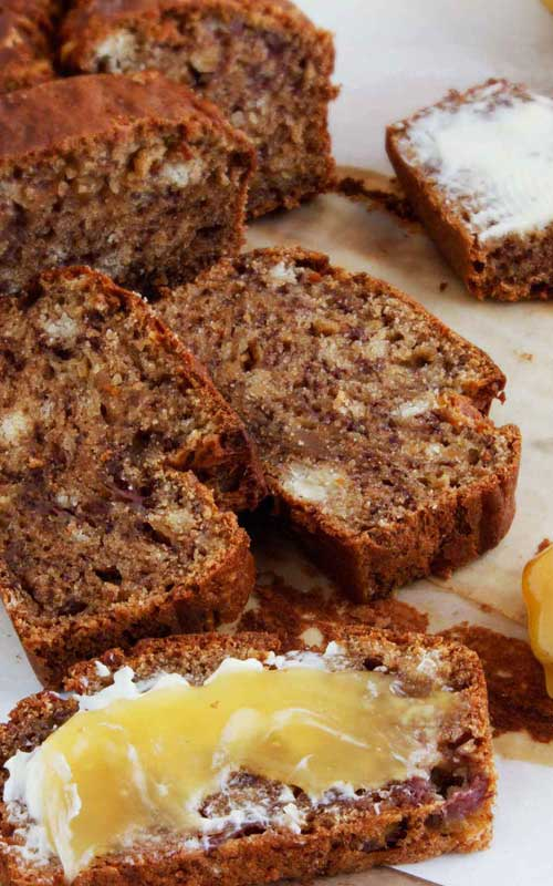 This is the best banana bread I have ever had. I buy really ripe bananas just so I can make this!
