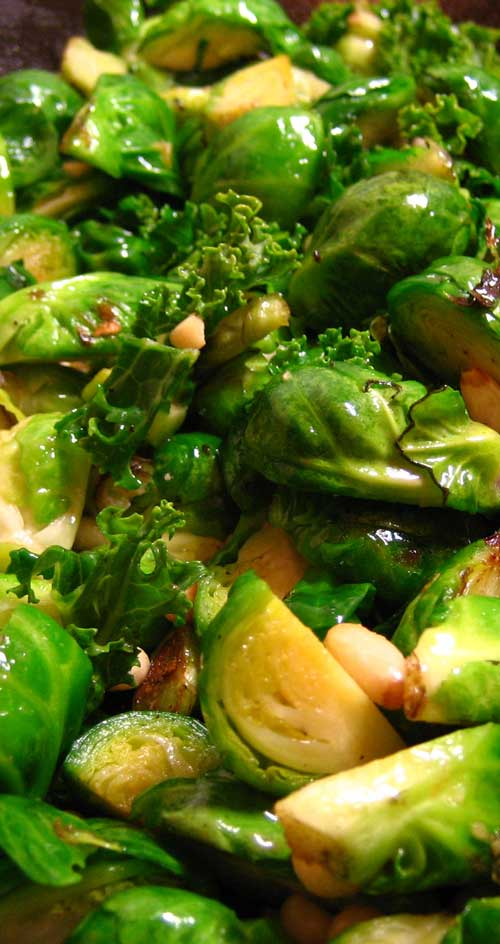 An easy side dish of Brussels Sprouts that are crispy on the outside, tender on the inside.