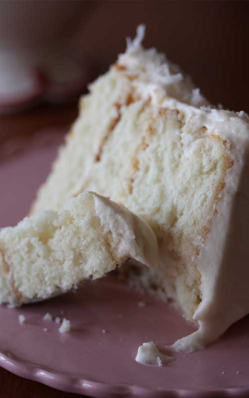This Southern Style Coconut Cake is really beautiful, and the coconut flavor in the cake was nice and subtle. The frosting is out of this world delicious and not coyingly sweet or rich...perfect!!